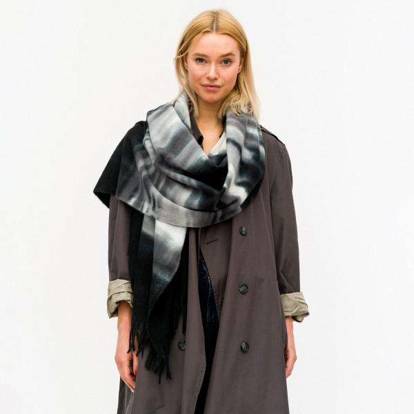 "Women's Tie Dye Oblong Scarf Featuring Fringe Tassels.  - Approximately 24"" W x 70"" L - 100% Polyester"
