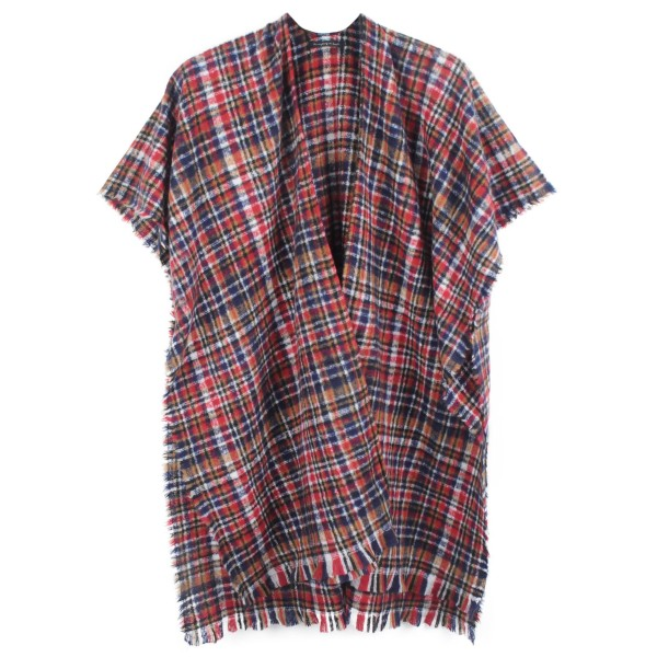 """Do everything in Love Brand Soft Knit Plaid Kimono.  - One size fits most 0-14 - Approximately 35"""" L - 100% Polyester"""