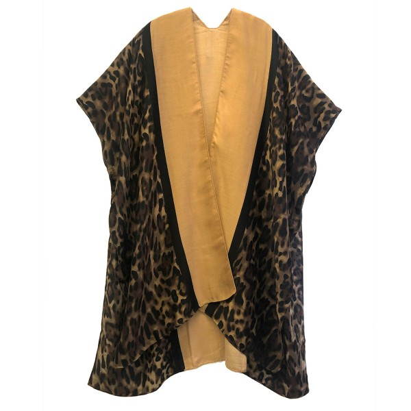 "Do everything in Love Brand Lightweight Leopard Print Kimono Featuring Bordered Trim Detail.  - One size fits most 0-14 - Approximately 36"" Long - 100% Polyester"