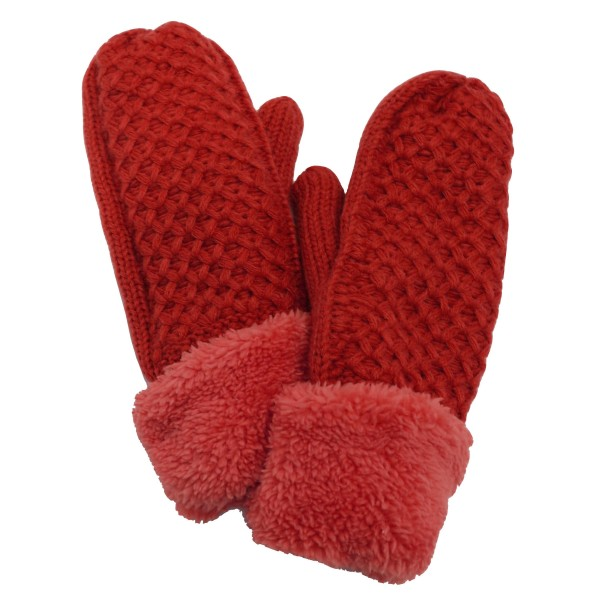 Do everything in Love Brand Sherpa Knit Cuff Mittens.  - One size fits most - 100% Polyester
