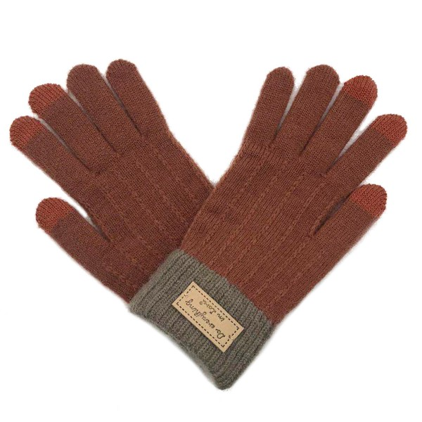 Do everything in Love Brand Assorted Two Tone Gloves (12 Pack)  - One size fits most - 12 Pair Individually Packed Per Pack - 4  Assorted Colors  -3 Black / 3 Grey / 3 Taupe / 3 Rust - 100% Acrylic