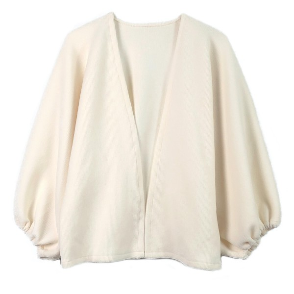 """Do everything in Love Brand Fleece Jersey Knit Cardigan Featuring Balloon Sleeve Detail.  - One size fits most 0-14 - Approximately 22"""" Long - 100% Polyester"""
