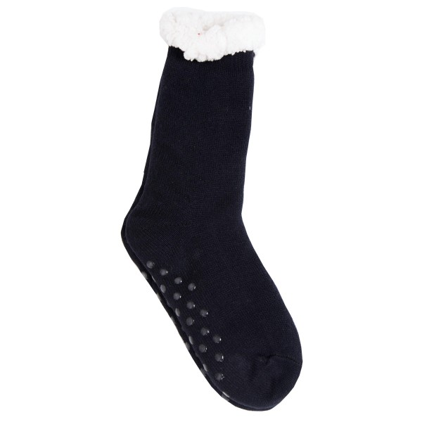 Assorted Sherpa Knit Slipper Socks. (12 Pack)