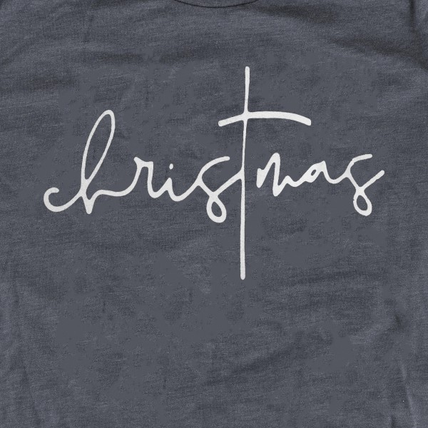 Christmas Script Graphic Tee.