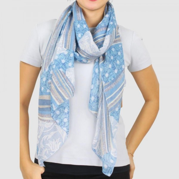 """Women's Lightweight Abstract Print Scarf.  - Approximately 27"""" W x 70"""" L - 100% Polyester"""