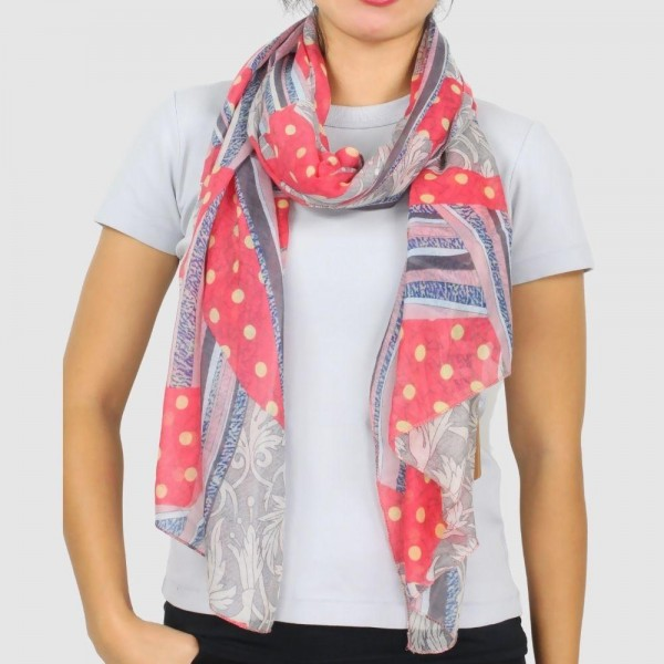 Wholesale women s Lightweight Abstract Print Scarf W L Polyester