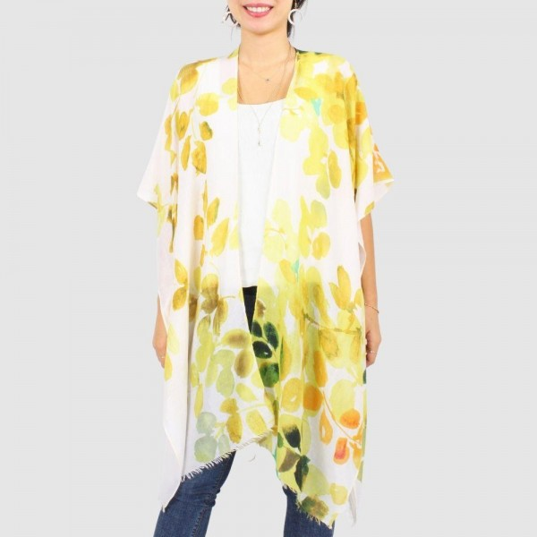 "Women's Lightweight Sheer Leaf Print Scarf.  - One size fits most  - Approximately 35.5"" in Length - 100% Polyester"