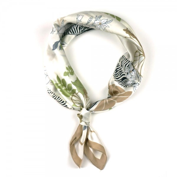 "Floral Patterned Bandana Scarf.   - 100% Polyester  - Approximately 27"" x 27""  - Versatile Styling"