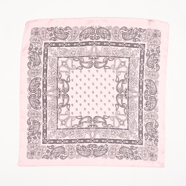 "Ladies Paisley Print Bandanna Neckerchief.  - Approximately 27"" x 27""  - 100% Polyester"