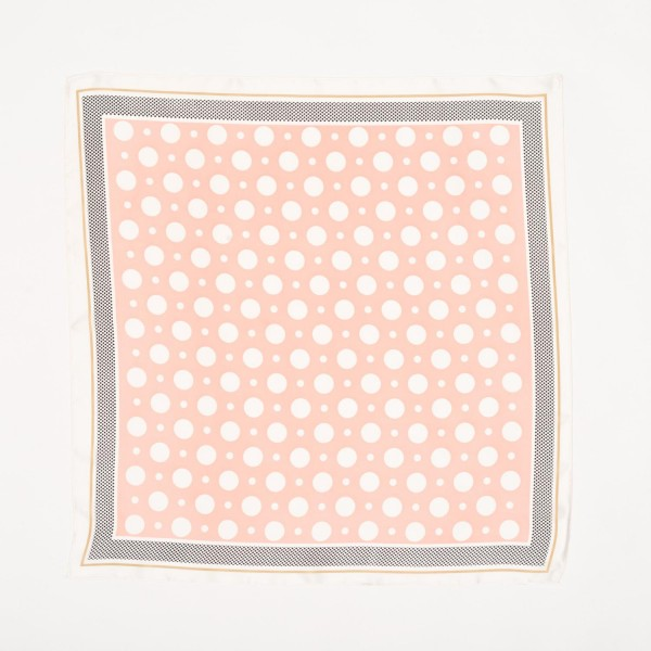 "Ladies Polka Dot Neckerchief.  - Approximately 27"" x 27""  - 100% Polyester"