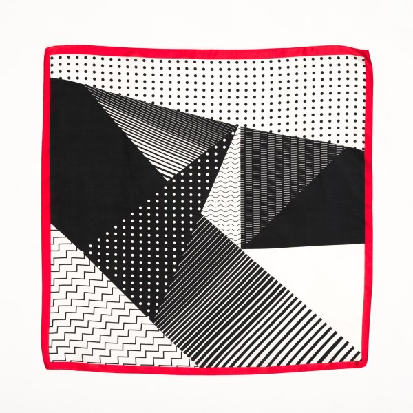 "Ladies Geometric Polka Dot Neckerchief.  - Approximately 27"" x 27""  - 100% Polyester"