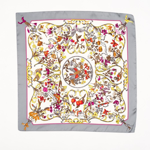 "Ladies Floral Print Neckerchief.  - Approximately 27"" x 27""  - 100% Polyester"