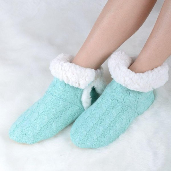 Women's Assorted 12 Pack Cable Knit Sherpa Slipper Booties. (12 pack)  • Cable knit exterior • Rubber sole • Plush faux sherpa lining • Perfect for wearing indoors  - 12 Pair Per Pack - Sizes: 6-S/M (35-38) and 6-M/L (39-41) - Colors: 2-Khaki, 2-Pink, 2-Grey, 2-LPink, 2-Turquoise, 2-Ivory - 40% Acrylic / 60% Polyester