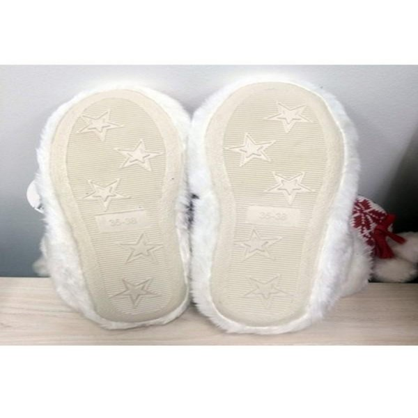 Women's Grey Cable Knit Sherpa Slipper Booties. (12 Pack)  • Cable knit exterior • Rubber sole • Plush faux sherpa lining • Perfect for wearing indoors  - 12 Pair Per Pack - Sizes: ALL M/L (39-41) - 40% Acrylic / 60% Polyester