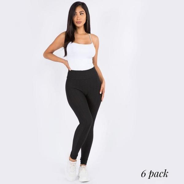 "Women's New Mix Brand Brazilian Body Sculpting Full Length Leggings.  - Body Sculpting  - Anti-Cellulite - Butt Lifting  - Full Length - 3.5"" Elastic Waistband  - 6 Pair Per Pack - Sizes: 3-S/M and 3-L/XL - 92% Polyester / 8% Spandex"