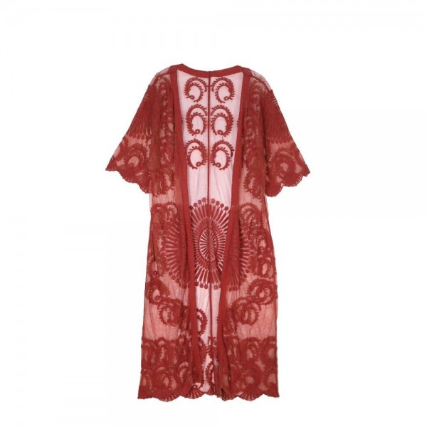 Do everything in Love Brand Rust Lace Maxi Kimono.  - One size fits most 0-14 - Approximately 50% L - 100% Cotton