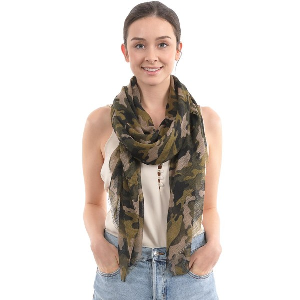 "Women's Lightweight Camouflage Scarf.  - Approximately 35"" W x 70"" L - 100% Polyester"