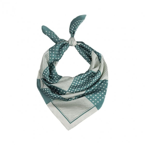 "Checkered Print Bandana Scarf.   - 100 % Polyester  - Approximately 27.5"" x 27.5"""