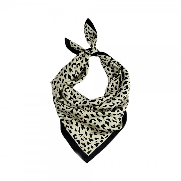 "Cheetah Print Bandana Scarf.   - 100 % Polyester  - Approximately 27.5"" x 27.5"""