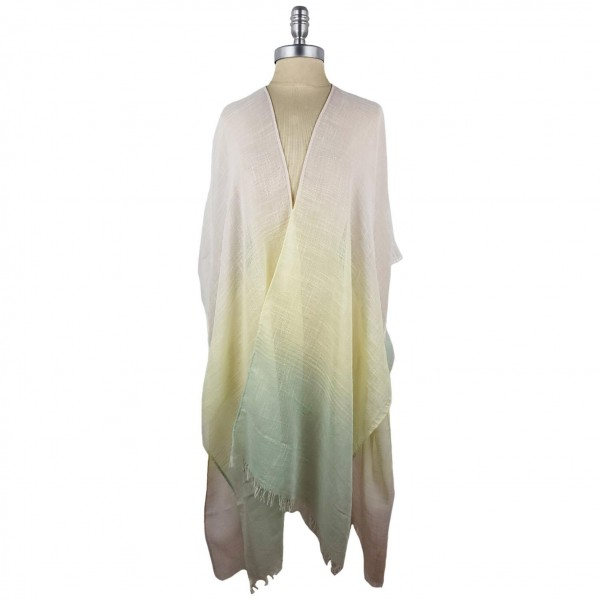 Multi Colored Striped Kimono.   -100% Polyester  - One Size Fits Most 0-14  - Open Closure Design & Relaxed Fit  - Hand Wash Cold / Do Not Bleach, Tumble Dry, Or Iron