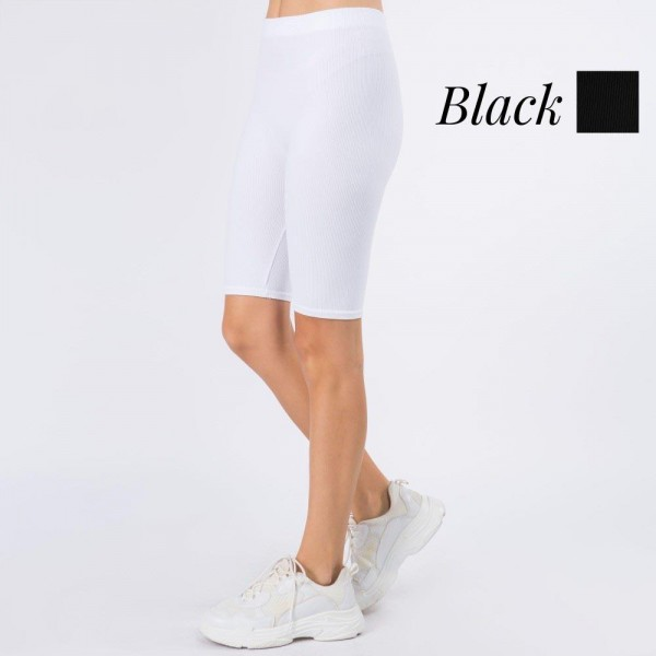 """Women's New Mix Brand Nylon Ribbed Seamless Biker Shorts. (6 pack)  - 1"""" Elastic Waistband  - Soft, Smooth and Cool Feel Material  - Inseam 8.5"""" Long  - 6 Pair Per Set - Sizes: 3:S/M - 3:M/L - 92% Nylon / 8% Spandex"""