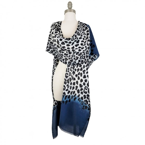 Cheetah Print Summer Kimono / Scarf / Shawl.   - Versatile Styling Thanks to Innovative Design That Allows This Kimono To Be Styled As A Scarf, Wrap, or Kimono (No Seams In The Arms)  - 100% Polyester - One Size Fits Most 0-14  - Hand Wash Cold / Do Not Bleach, Tumble Dry, Or Iron
