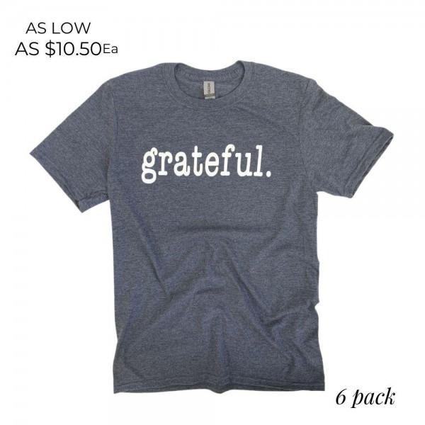 Wholesale grateful Graphic Tee Printed Gildan Softstyle Brand Tee Color Heather
