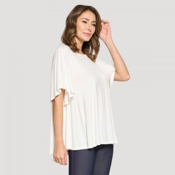 Women's Plus Size Short Sleeve Flowy Top. (6 Pack)   • Short sleeves • Round neckline • Flowy silhouette • Soft and comfortable fabric with stretch • Pullover styling • Imported  - 6 Shirts Per Pack - Sizes: 2:XL 2:2XL 2:3XL - 95% Rayon / 5% Spandex