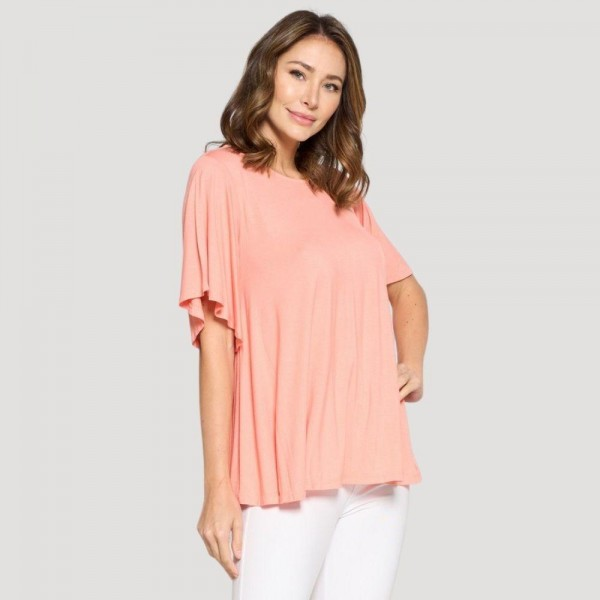 Women's Short Sleeve Flowy Top. (6 Pack)  • Short sleeves • Round neckline • Flowy silhouette • Soft and comfortable fabric with stretch • Pullover styling • Imported  - 6 Shirts Per Pack - Sizes: 2:S 2:M 2:L - 95% Rayon / 5% Spandex