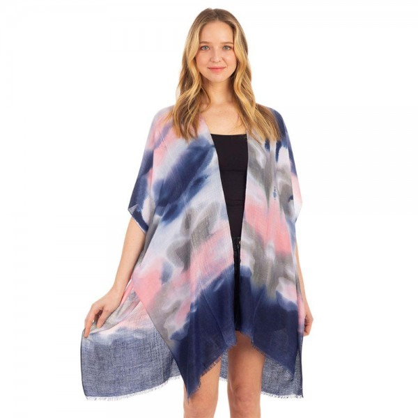 Lightweight Tie-Dye Poncho Cape.   - One Size Fits Most 0-14 - 100% Polyester