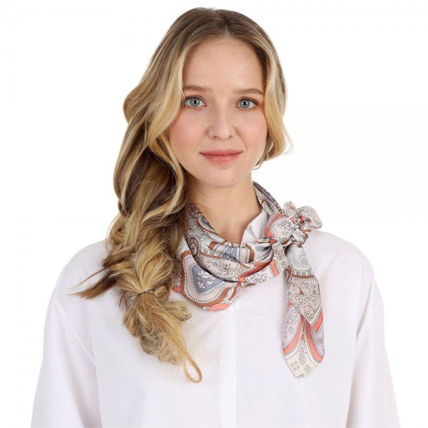 "Printed Bandana Scarf.   - Approximately 27"" x 27""  - 100% Polyester"