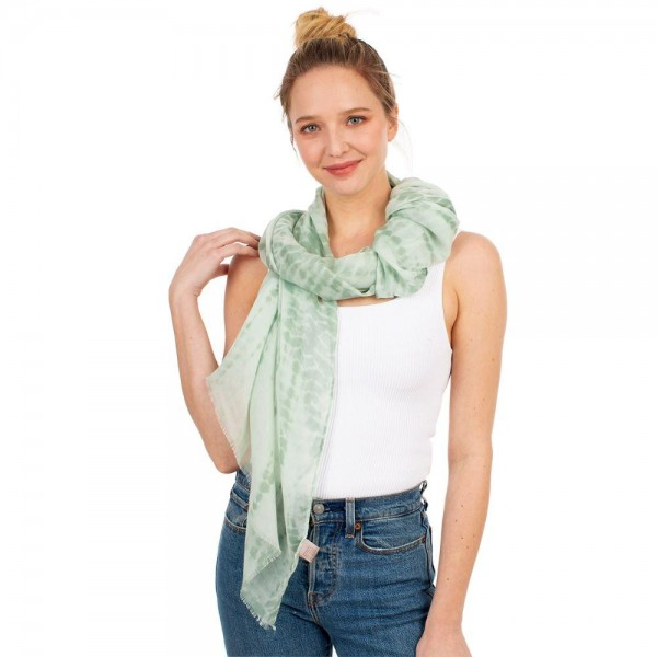 "Lightweight Tie Dye Scarf.   - 100% Polyester - Approximately 60"" x 35"""