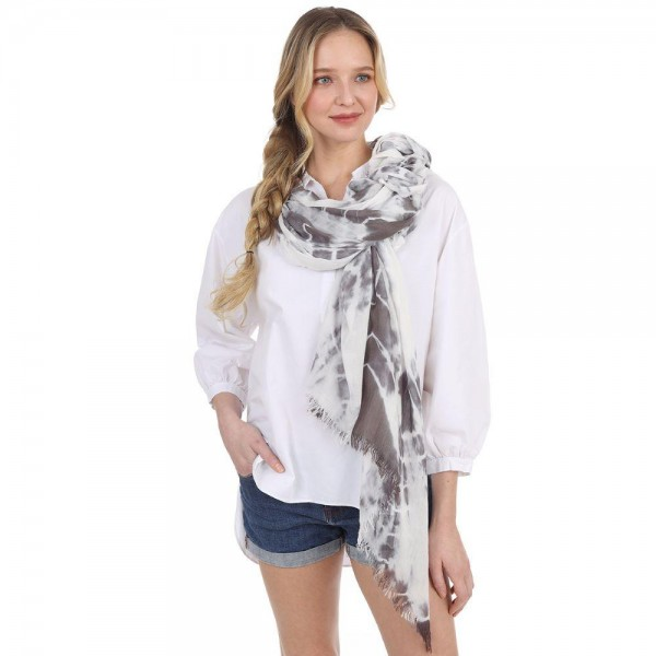 "Tie-Dye Scarf.   - 100% Polyester - Approximately 35"" x 60"""