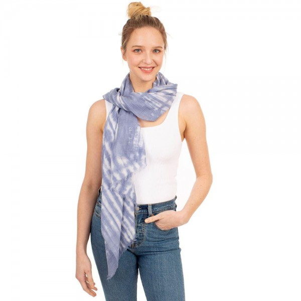 "Tie-Dye Scarf.   - 35% Viscose, 65% Polyester - Approximately 60"" x 35"""