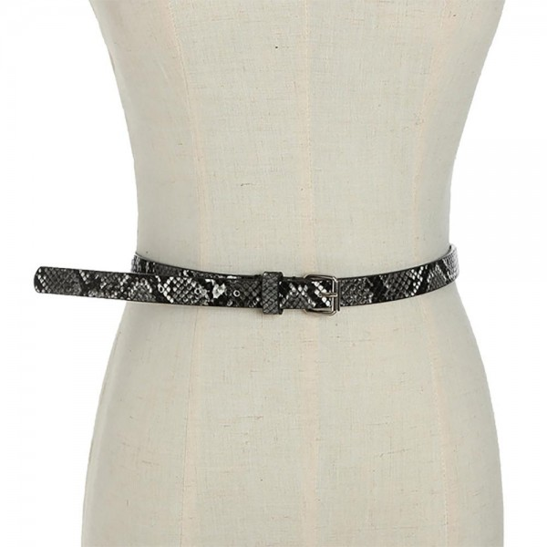 """Thin Faux Leather Animal Print Belt Featuring Silver Buckle.   - Belt is Approximately 41"""" Long & 3/4"""" Wide"""