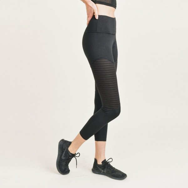 """Women's Active Athletic Leggings. (6 Pack)   - 4"""" Elastic Waistband  - Mesh Like Details for Extra Breathability  - 6 Sets Per Pack  - Sizes: 1-S / 2-M / 2-L / 1-XL - 92% Polyester / 8% Spandex"""