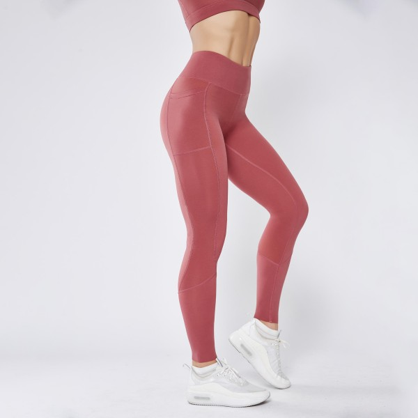 "Women's Active High Rise Athletic Leggings Featuring Side Pockets. (6 pack)  - 3.5"" High Rise Waistband - Two Side Pockets - Designed for Training  - Sweat-Wicking - 4-way Stretch - Breathable - Smooth, Cool Feel  - Inseam 27"" Long - 6 Pair Per Pack - Sizes: 2:S 2:M 2:L - 75% Nylon / 25% Spandex"