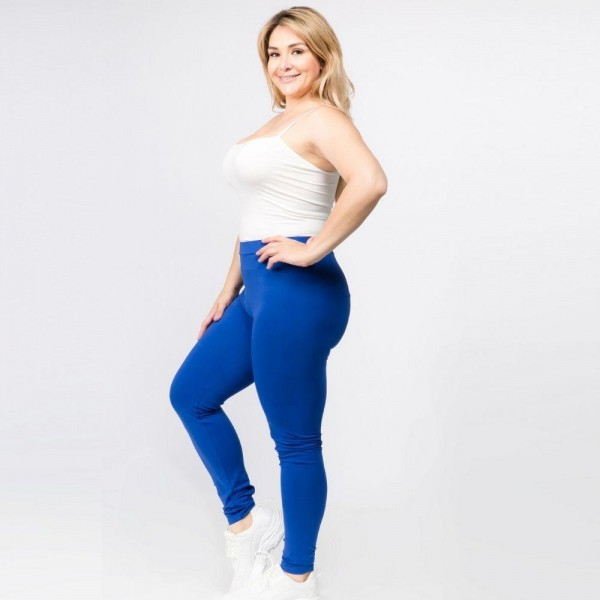 Plus Size Full Length Leggings Featuring High Rise Waistband. (6 Pack)   • Elasticized High Rise Waistband • Fit like a Glove • Pull On/Off Design • Soft and Stretchy  Content: 92% Cotton, 8% Spandex  Pack Breakdown: 6pcs/pack. XL Size Only