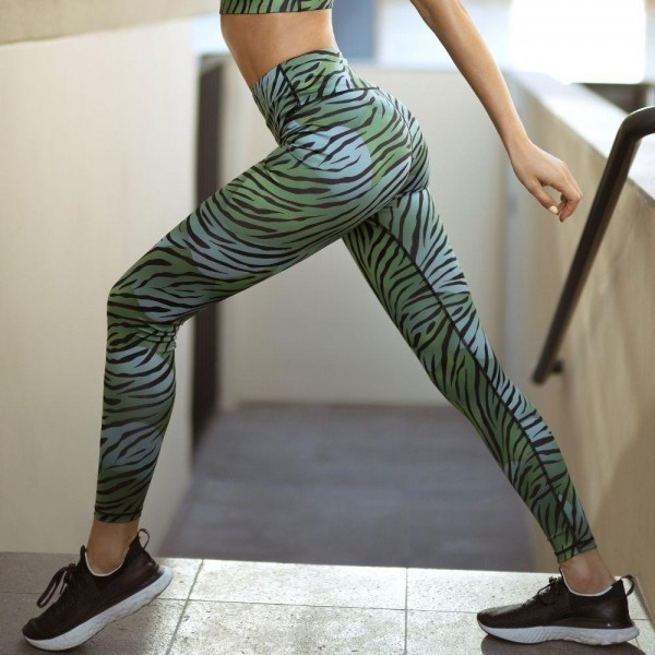 Athletic Tiger Print Leggings Featuring a High Rise Waistband. (6 Pack)  • High Rise Waistband • Hidden Pocket on Waist for Phone, Keys & Cash • Fit like a Glove • 4-way Stretch for More Movement • Full Length Design • Squat Proof • Flat Lock Seams Prevent Chafing • Triangular Cotton Gusset Lining • Pull On/Off Styling  Composition: 46% Polyester, 41% Nylon, 13% Spandex  Pack Breakdown: 6pcs/pack. 2S: 2M: 2L