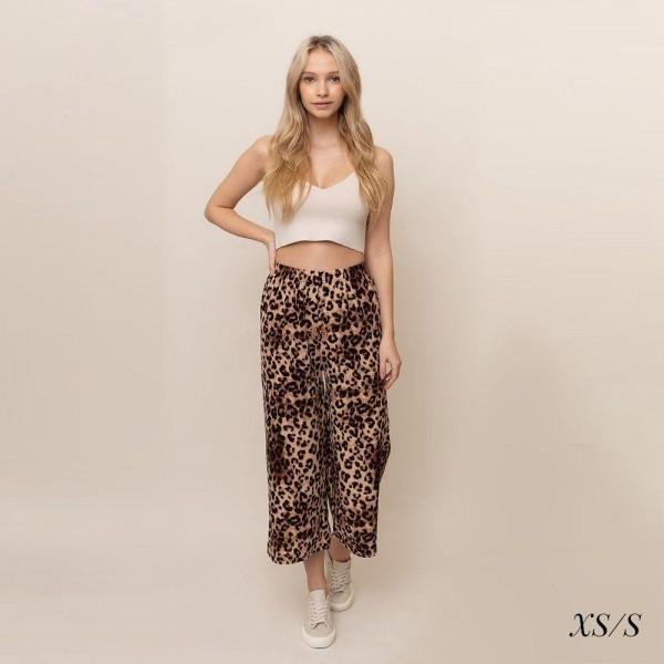 Animal Print palazzo pants.  Size XS/S  - 55% cotton 45% polyester