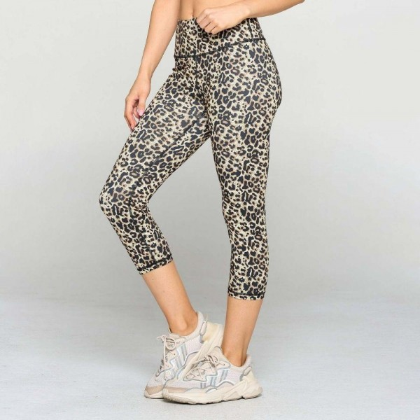 Cheetah Print Active Leggings Featuring a High Rise Waistband. (6 Pack)  • Flat high rise waistband smooths & supports the tummy • Hidden waistband pocket for keys, phone, cash • Vibrant cheetah print • 4-way stretch fabric for a move-with-you feel • Flat lock seams prevent chafing • Triangular Cotton Gusset Lining • Moisture wick fabric • Squat Proof • Fits like a glove • Full length • Pull on/off styling • Wear for yoga, gym, running, or lounge  Composition: 46% Polyester, 41% Nylon, 13% Spandex  Pack Breakdown: 6pcs/pack. 2S: 2M: 2L  Hand Wash Cold, Do Not Bleach, Tumble Dry, Iron Low, Do Not Dry Clean