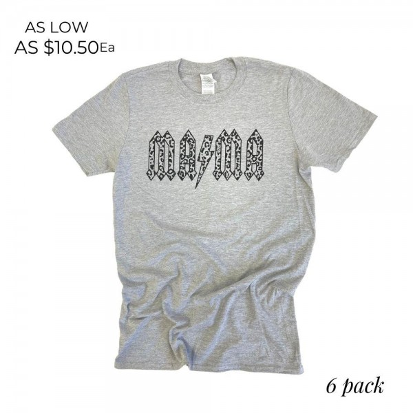Mama Graphic Tee.  - Printed on a Gildan Softstyle Brand Tee - Color: Sports Grey - 6 Shirts Per Pack - Sizes: 1:S 2:M 2:L 1:XL - 90% Cotton / 10% Polyester