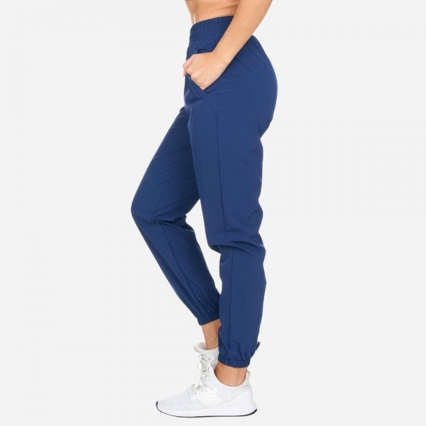 Full-Length Woven Jogger Pants with Pockets. (6 Pack)   - Comfort and full stretch for the full versatility - 2 side pockets - 6 Pairs of Joggers Per Pack - Sizes: 1 S / 2 M / 2 L / 1 XL - Slim fit, tapered leg design with ankle cuffs - High Quality & Skin Friendly Material - Breathable, lightweight woven fabric keeps you cool and dries quickly - Perfect to layer or wear on its own for the gym, yoga or casual everyday wear - Material: 90% Nylon, 10% Spandex