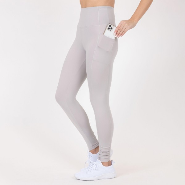 Full-Length High-Waisted Leggings Featuring Side Pockets. (6 Pack)  - 2 Outside Pockets - Made from soft 4-way moisture wicking polyester - Lattice over Mesh Detail - High Quality Fabric - Squat Test Approved! - All-purpose leggings are great for all exercises or everyday casual wear - Material: 88% Polyester, 12% Spandex - Sizes: 1-S, 2-M, 2-L, 1-XL