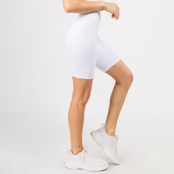 Women's Active High Rise Bike Shorts Featuring Hidden Waistband Pocket. (6 Pack)   • Elasticized high rise waistband • Crop knee-length hem • Squat Proof • Soft and stretchy • Moisture-wicking fabric • Fits like a glove • 4-way-stretch fabric for a move-with-you feel • Tummy-flattening waistband with interior hidden pocket • Flatlock seams prevent chafing  - Composition: 75% Nylon, 25% Spandex  - Pack Breakdown: 6pcs/pack. 2S: 2M: 2L