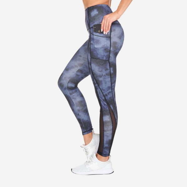 'Candy Swirl' Women's Active High Rise Full Length Printed Leggings. (6 Pack)  - Full Length - High Waist - 2 Outside Pockets - Made from soft 4-way moisture-wicking polyester - Printed Swirl Detail - High Quality Fabric - Squat Test Approved! - Sizes: 1-S, 2-M, 2-L, 1-XL - Material: 88% Polyester, 12% Spandex