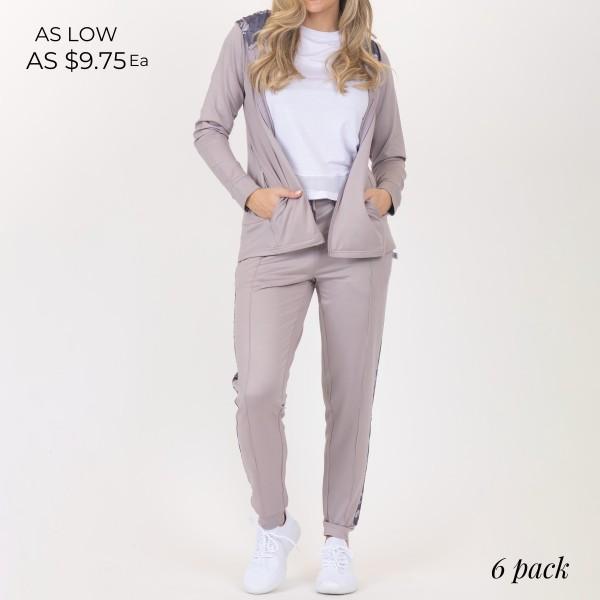 Wholesale heathered Athleisure Hoodie Pockets Drawstrings Full Zipper Floral Pri