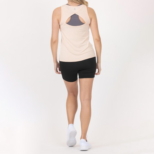 Women's Athletic Tank Top Featuring Cut Out Details on the Back. (6 Pack)  - 95% Rayon, 5% Spandex - Lightweight Fabric - 6 Shirts Per Pack  - Sizes: 1-S, 2-M, 2-L, 1-XL
