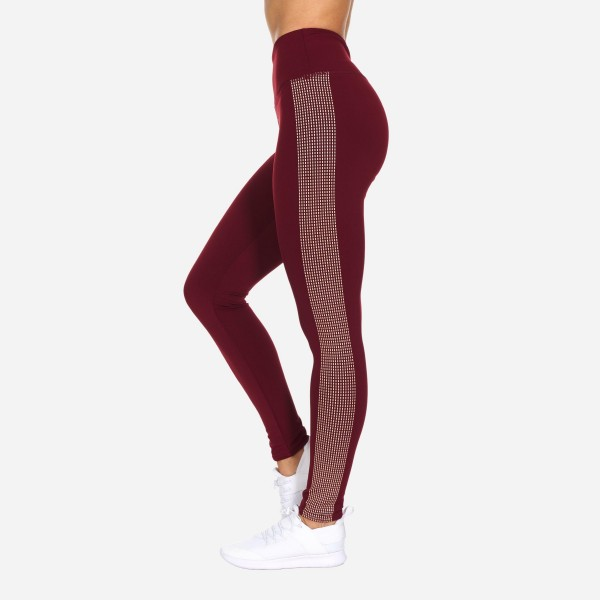 Full-Length Leggings Featuring Dot Pattern Down the Side. (6 Pack)  - High Waist - Made from soft 4-way moisture wicking polyester - High Quality Fabric - Squat Test Approved! - All-Purpose leggings are great for all exercises or everyday casual wear - Material: 88% Polyester, 12% Spandex - Sizes: 1-S, 2-M, 2-L, 1-XL
