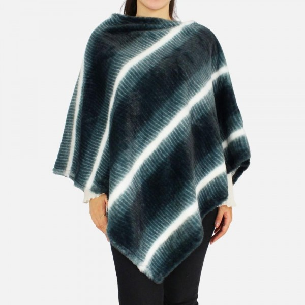 """Women's Faux Fur Poncho.  - One Size Fits Most - Approximately 32"""" in Length - 100% Polyester"""